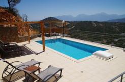 Leilighet i Vathi, Agios Nikolaos med EOT-lisens, eget basseng og panoramautsikt.